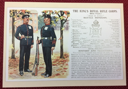 Postcard-The King's Royal Rifle Corps History and Traditions